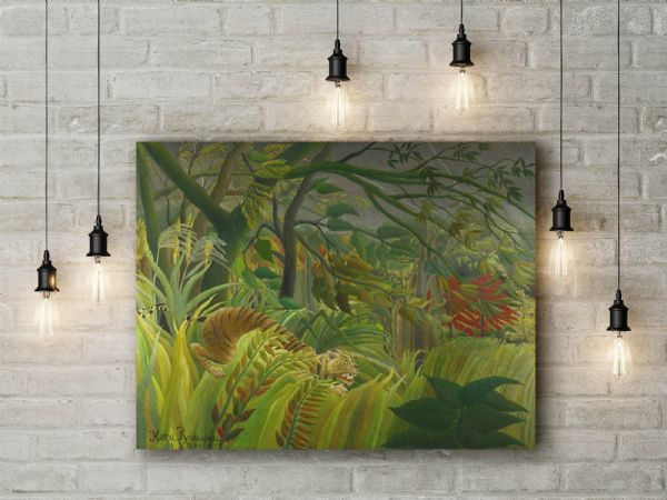 Henri Rousseau: Surprise. Fine Art Canvas.
